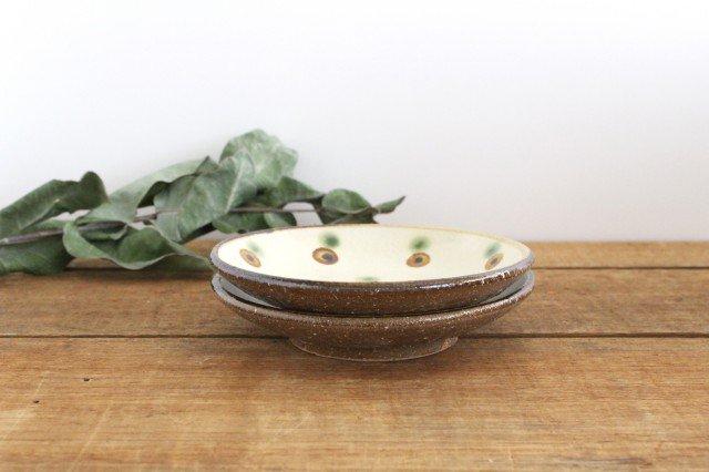 5寸皿 ドット オーグスヤアメ 陶器 陶芸こまがた 駒形爽飛 やちむん 画像5
