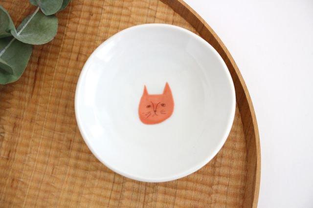 九谷焼 ハレクタニ ネコ豆皿 赤 磁器 画像4