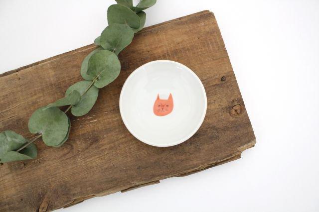 九谷焼 ハレクタニ ネコ豆皿 赤 磁器 画像6