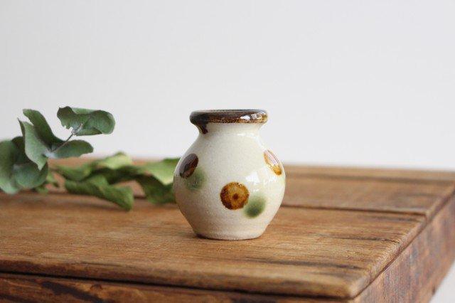 楊枝壺 ドット オーグスヤアメ 陶器 陶芸こまがた 駒形爽飛 やちむん