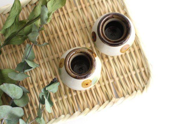 楊枝壺 ドット オーグスヤアメ 陶器 陶芸こまがた 駒形爽飛 やちむん 画像2