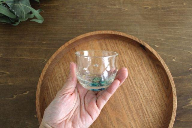 ぐい飲み イロドリ 【B】 ガラス 23n. 滝川ふみ 画像2
