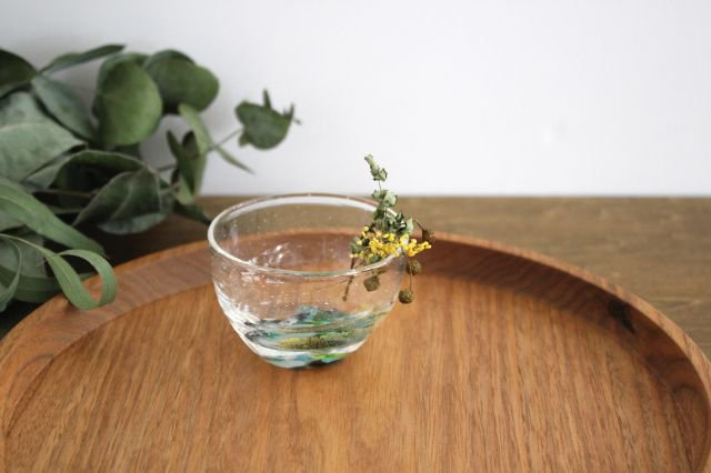 ぐい飲み イロドリ 【D】 ガラス 23n. 滝川ふみ 画像5