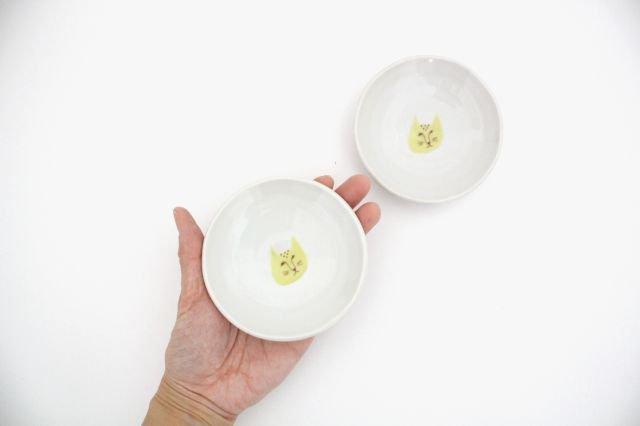 九谷焼 ハレクタニ ネコ豆皿 黄 磁器 画像4