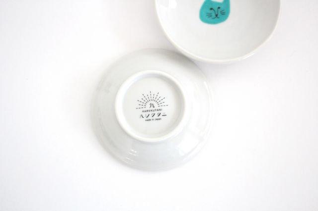 九谷焼 ハレクタニ ネコ豆皿 緑 磁器 画像3