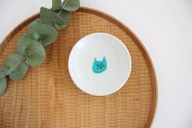九谷焼 ハレクタニ ネコ豆皿 緑 磁器 画像4