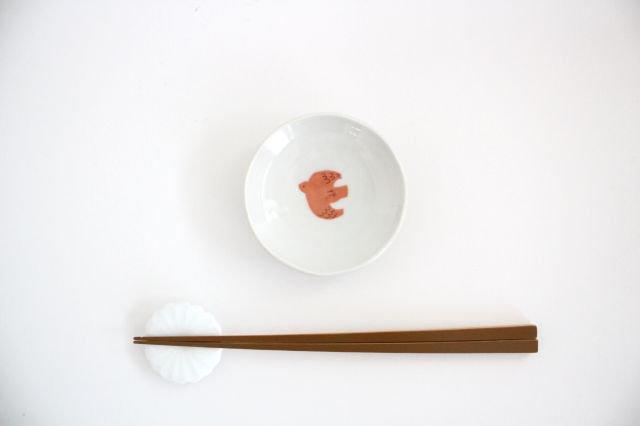 九谷焼 ハレクタニ トリ豆皿 赤 磁器 画像3