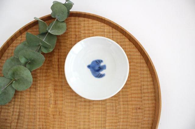 九谷焼 ハレクタニ トリ豆皿 青 磁器