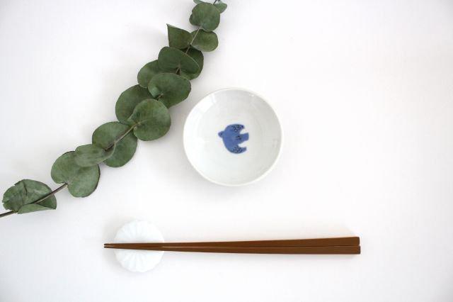 九谷焼 ハレクタニ トリ豆皿 青 磁器 画像4