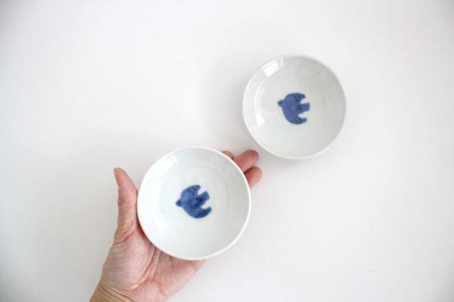 九谷焼 ハレクタニ トリ豆皿 青 磁器 画像6