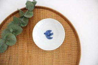 九谷焼 ハレクタニ トリ豆皿 青 磁器商品画像