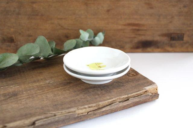九谷焼 ハレクタニ トリ豆皿 黄 磁器 画像2