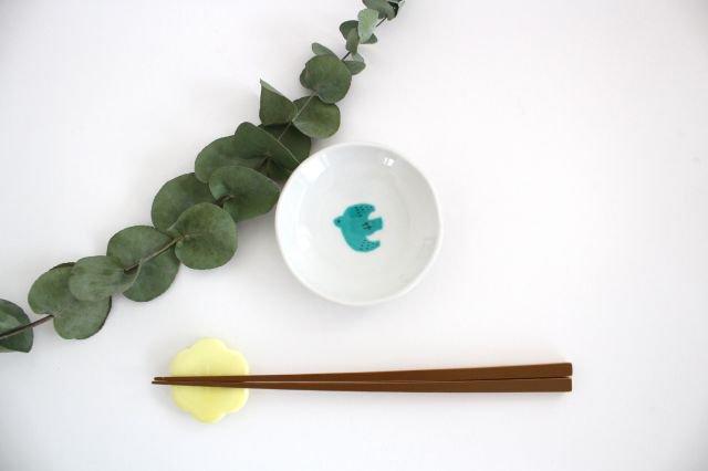 九谷焼 ハレクタニ トリ豆皿 緑 磁器
