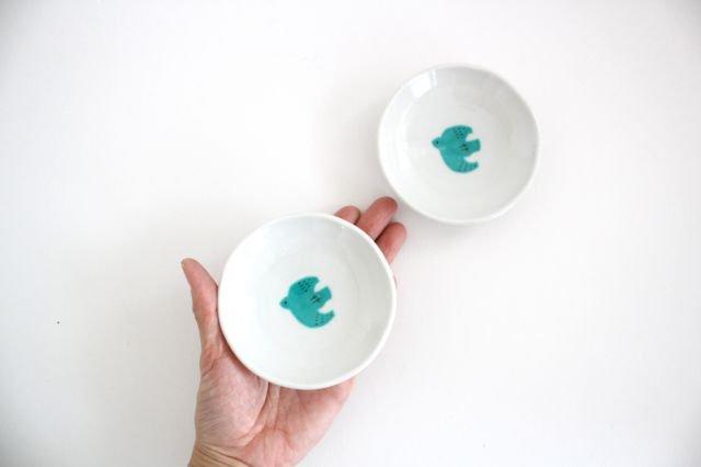 九谷焼 ハレクタニ トリ豆皿 緑 磁器 画像4