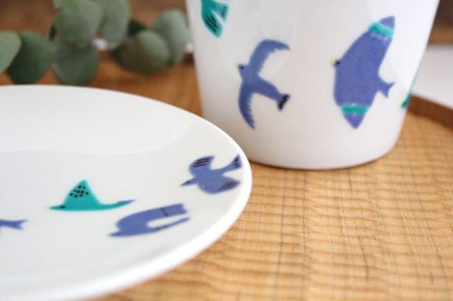 九谷焼 ハレクタニ 青い鳥 カップ&ソーサー 磁器 画像3
