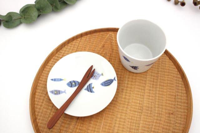 九谷焼 ハレクタニ 青い魚 カップ&ソーサー 磁器 画像2