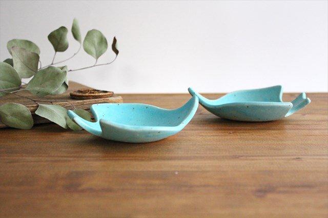 コトリ小皿 トルコブルー 陶器 長浜由起子 画像2