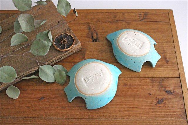 コトリ小皿 トルコブルー 陶器 長浜由起子 画像4