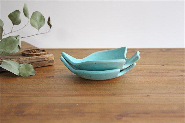 コトリ小皿 トルコブルー 陶器 長浜由起子 画像5