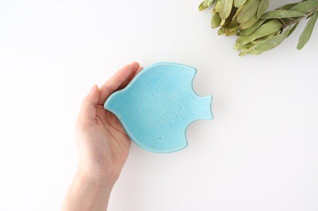 コトリ小皿 トルコブルー 陶器 長浜由起子 画像6