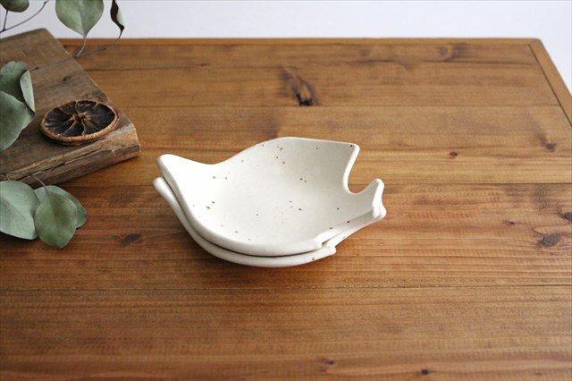 コトリ小皿 ホワイト 陶器 長浜由起子 画像2