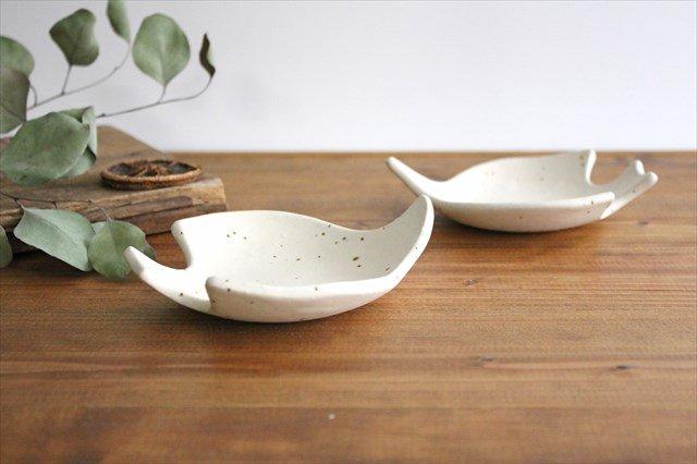 コトリ小皿 ホワイト 陶器 長浜由起子 画像4