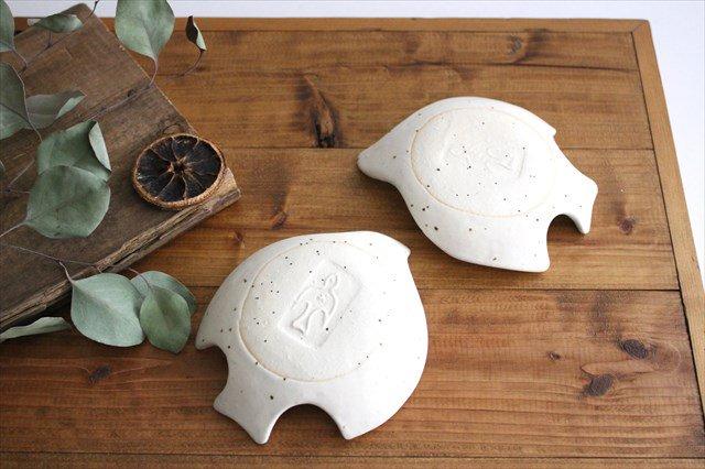 コトリ小皿 ホワイト 陶器 長浜由起子 画像6