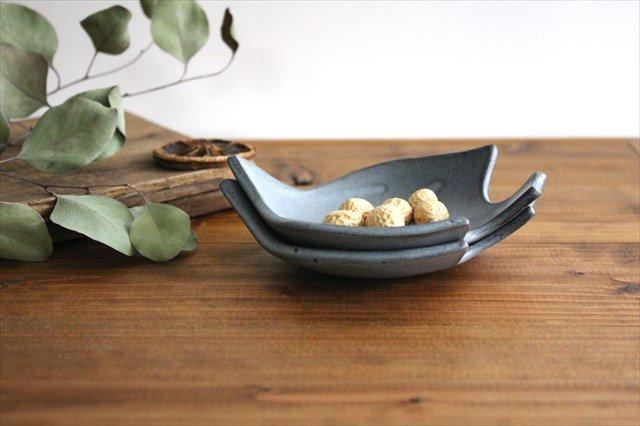 コトリ小皿 ブルーグレー 陶器 長浜由起子 画像6