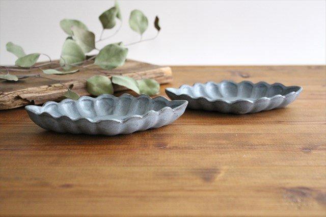 ひし形小皿 ブルーグレー 陶器 長浜由起子 画像2