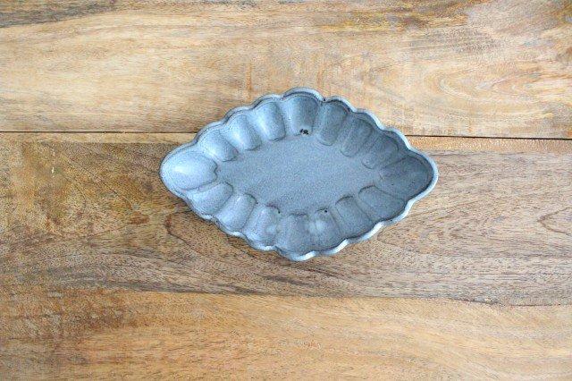 ひし形小皿 ブルーグレー 陶器 長浜由起子 画像5
