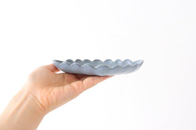 ひし形小皿 ブルーグレー 陶器 長浜由起子 画像6