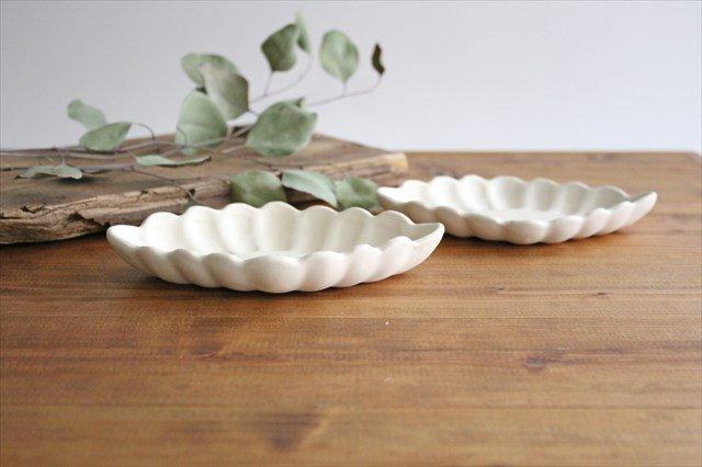 ひし形小皿 ホワイト 陶器 長浜由起子 画像2