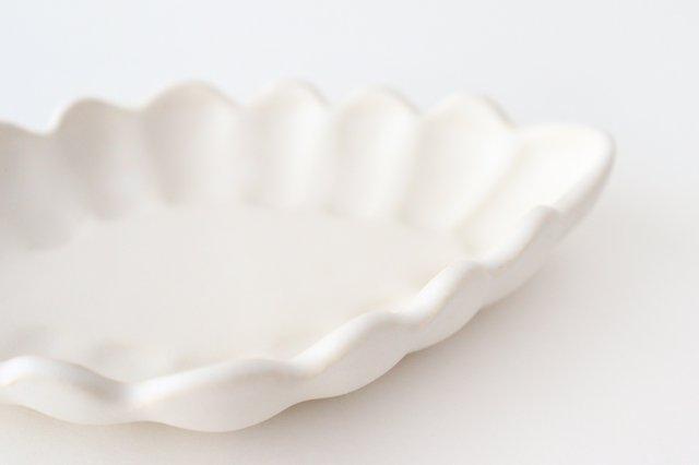 ひし形小皿 ホワイト 陶器 長浜由起子 画像3
