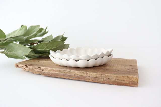 ひし形小皿 ホワイト 陶器 長浜由起子 画像6