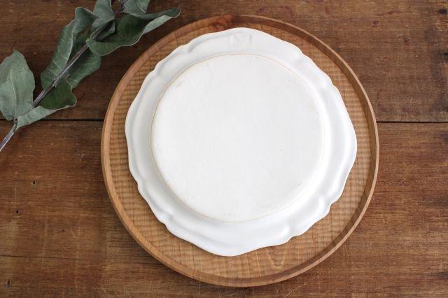白マット洋皿 8寸 陶器 長浜由起子 画像3