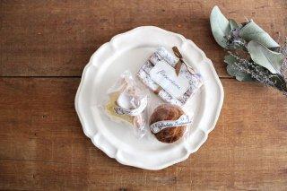 白マット洋皿 8寸 陶器 長浜由起子商品画像