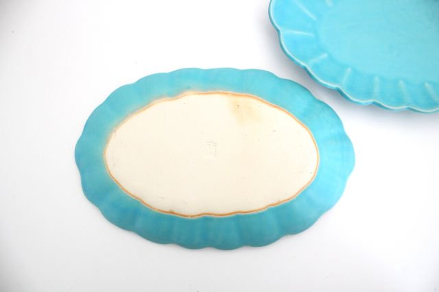 空皿 トルコブルー 陶器 長浜由起子 画像2