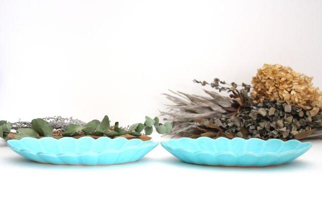 空皿 トルコブルー 陶器 長浜由起子 画像5