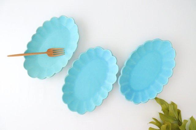 空皿 トルコブルー 陶器 長浜由起子 画像6