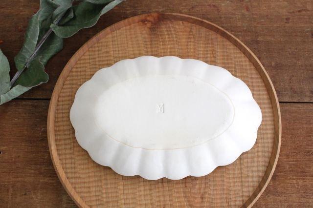 波皿 オフホワイト 陶器 長浜由起子 画像2