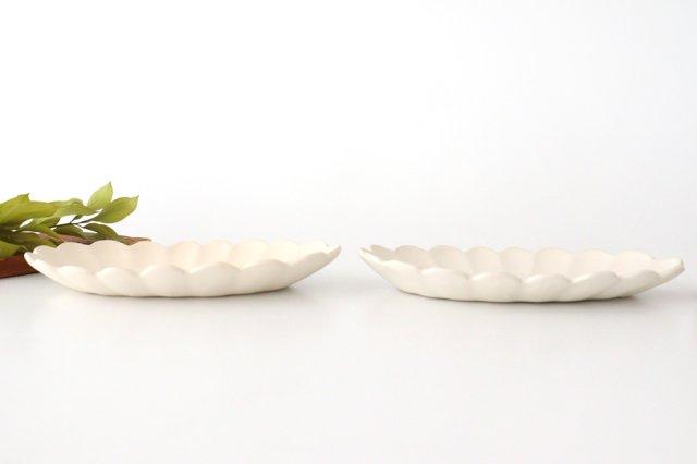 波皿 オフホワイト 陶器 長浜由起子 画像3