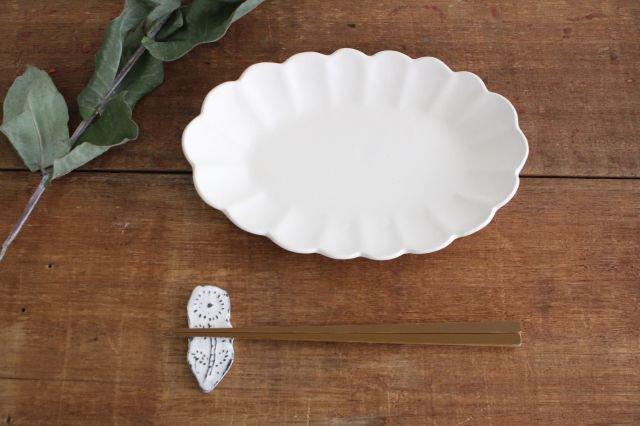 波皿 オフホワイト 陶器 長浜由起子 画像4