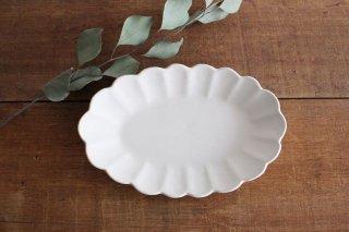波皿 オフホワイト 陶器 長浜由起子商品画像