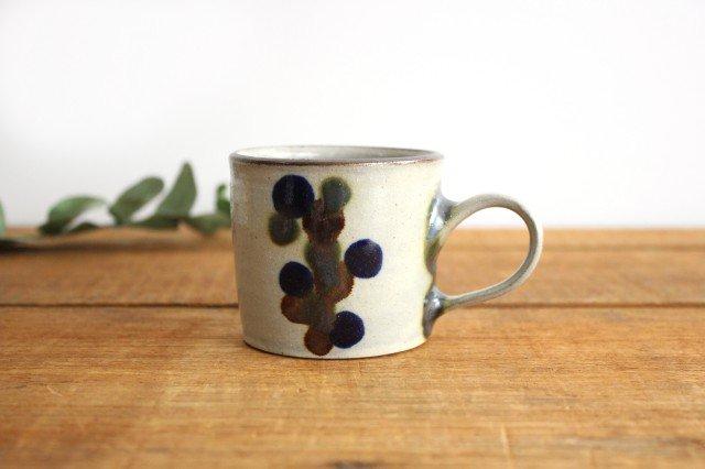 コーヒーカップ 連ドット 陶器 mug やちむん
