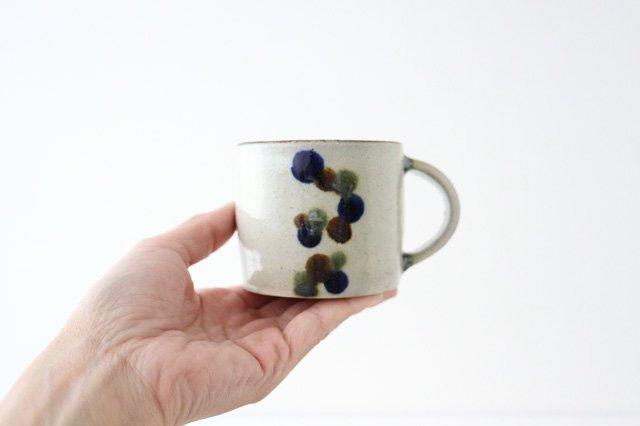 コーヒーカップ 連ドット 陶器 mug やちむん 画像4