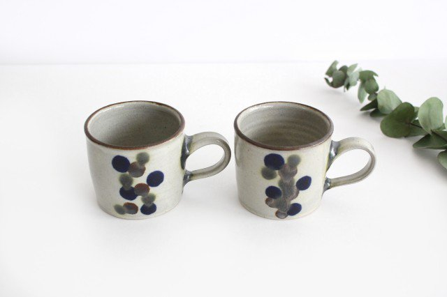 コーヒーカップ 連ドット 陶器 mug やちむん 画像5