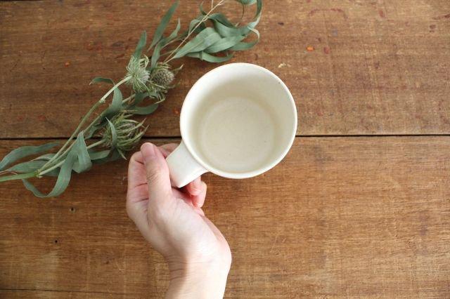 マグカップ 小 白 陶器 寺嶋綾子 画像2