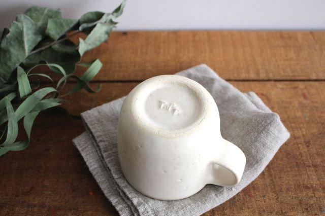 マグカップ 小 白 陶器 寺嶋綾子 画像3