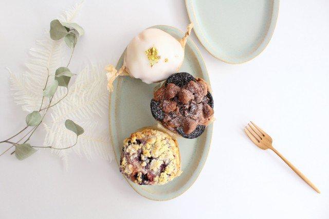 だ円プレート 水色 陶器 寺嶋綾子 画像4