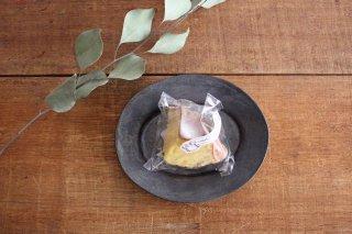 オーバル皿 黒 小 陶器 長浜由起子商品画像